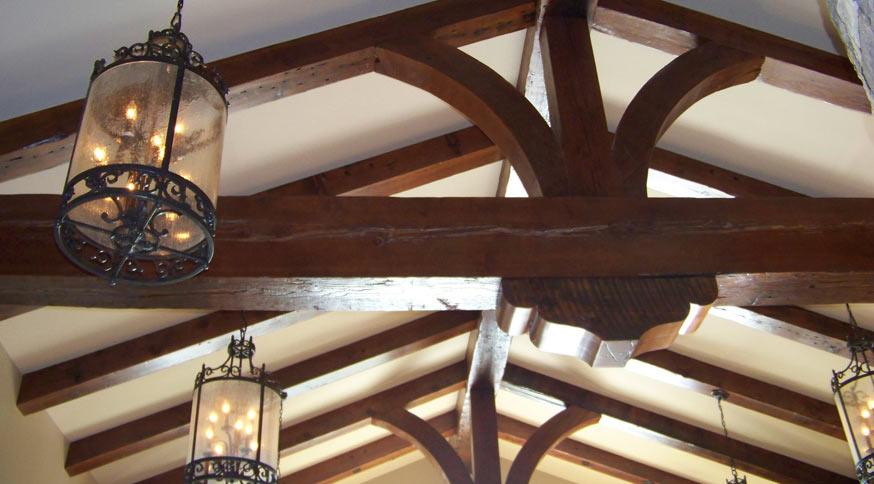 vintage truss beam