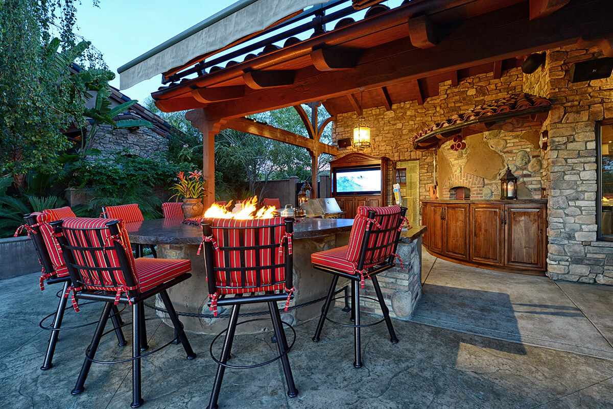 Outdoor Living Space Design custom outdoor living rooms & kitchens in san diego | lars