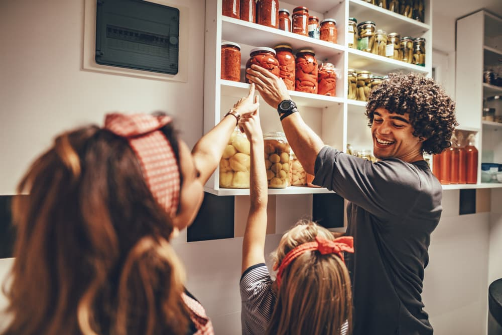 What is the best way to organize a food pantry
