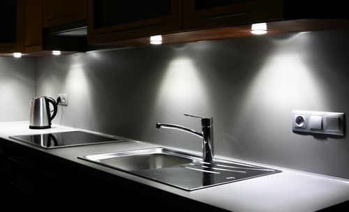 Where should kitchen lights be placed