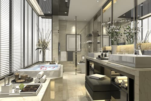 How can I decorate my bathroom