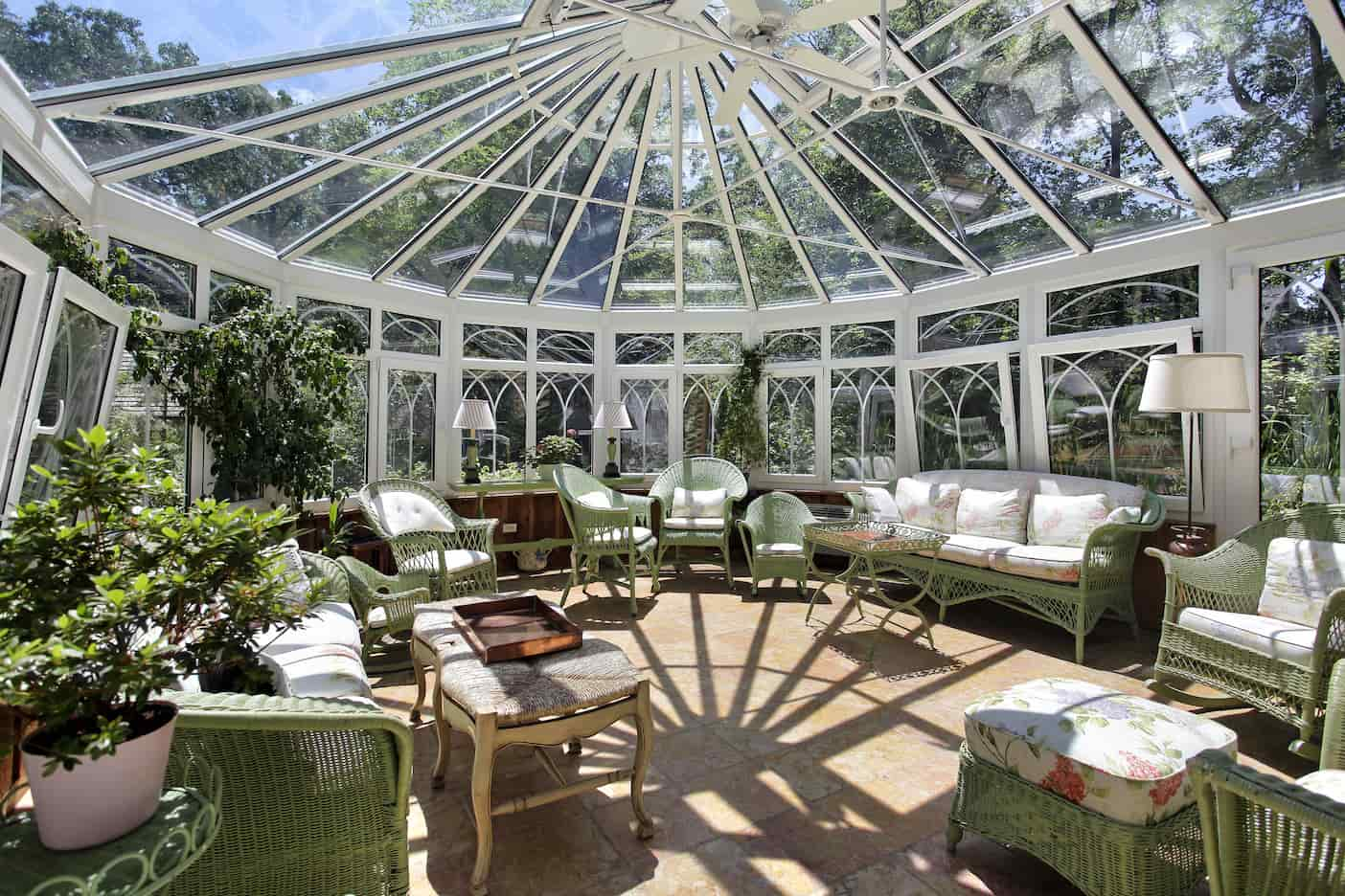 How do you decorate a sunroom or a porch