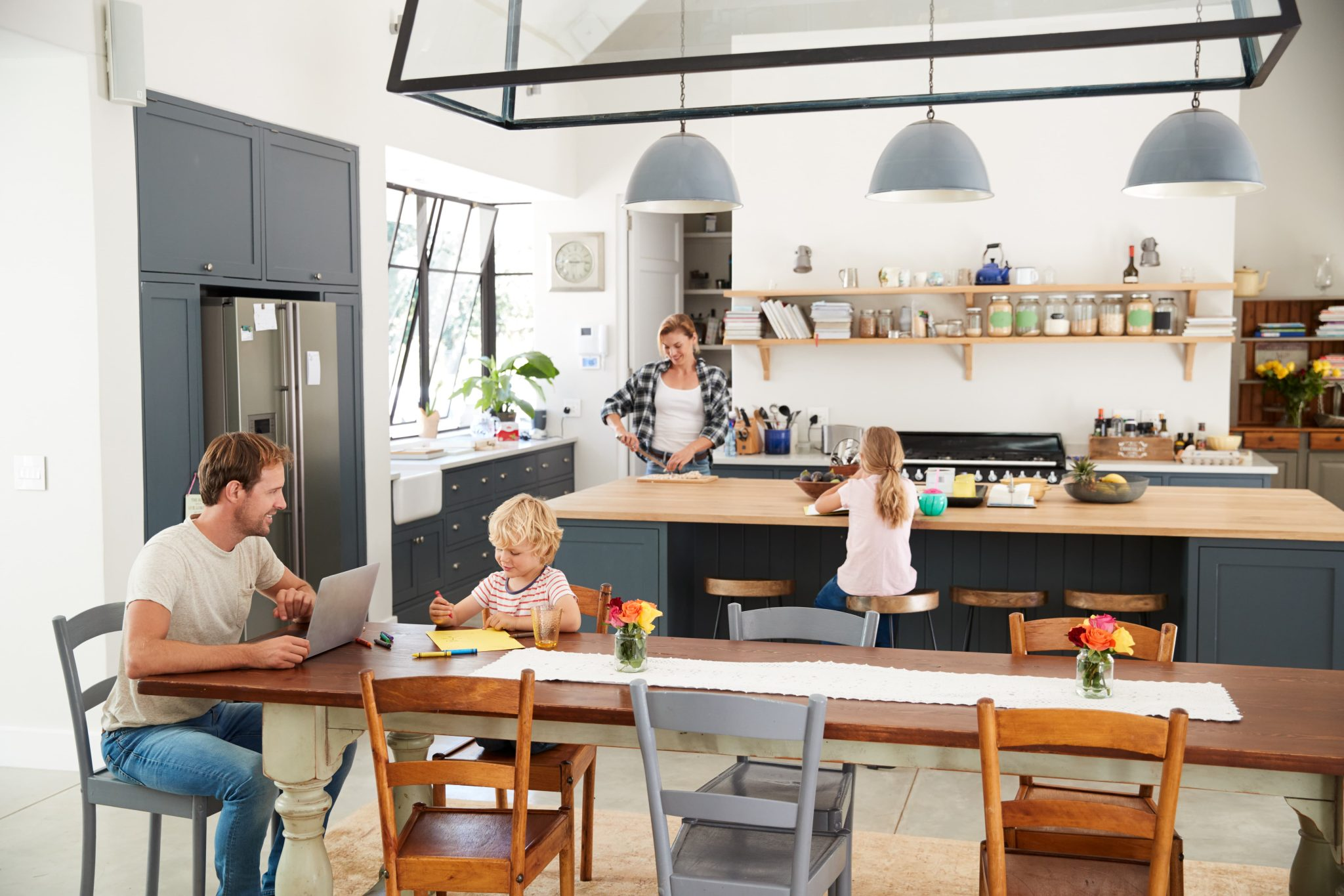 How to Blend a Kitchen Into an Open Living Space