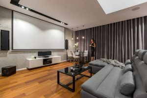 What is the best color for a home theater room