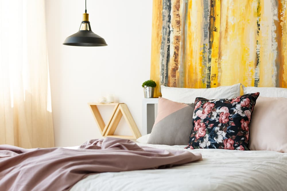How do you style a modern bedroom